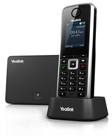 Yealink SIP-W52P DECT Cordless IP Phone 1.8-inch Colour LCD 5-VoIP Power Over Ethernet (PoE) VPN (Black)