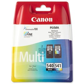Canon PG-540/CL-541 (Yield: 180 Pages) Multi Colour Ink Cartridge (Black/Cyan/Magenta/Yellow) Pack of 2