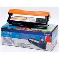 Brother TN-325C (Yield: 3,500 Pages) Cyan Toner Cartridge