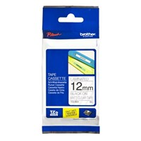Brother P-touch TZe-M31 (12mm x 8m) Black On Clear Laminated Labelling Tape