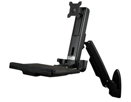 StarTech.com Wall-Mounted Adjustable Single Monitor Sit-Stand Desk (Black)