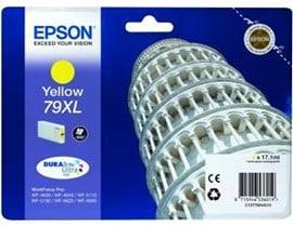 Epson Tower of Pisa 79XL (Yield: 2,000 Pages) High Yield DURABrite Yellow Ink Cartridge