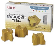 Xerox 108R00725 (Yield: 3,400 Pages) Yellow Solid Ink Sticks Pack of 3