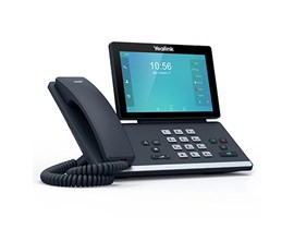 Yealink T56A (7 inch TOuchscreen) Smart Media IP Phone 16-VoIP Accounts Wi-Fi Bluetooth PoE (Black)