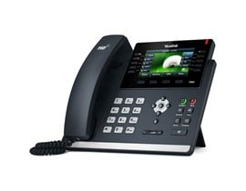 Yealink SIP-T46S (4.3 inch) IP Phone Colour LCD Backlit PoE USB Port Opus Codec 16 SIP Accounts (Black)