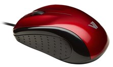 V7 Mid Size USB Optical Mouse (Black/Red) Mouse - Blister