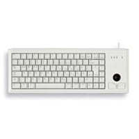 CHERRY Compact G84-4400 USB Keyboard with Integrated Trackball (Light Grey) - UK