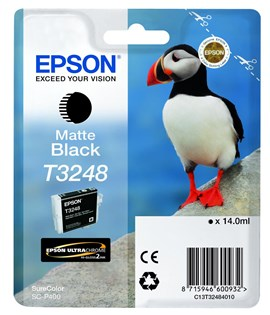 Epson Puffin T3248 (14ml) Ultrachrome Hi-Gloss2 Matte Black Ink Cartridge for SureColor SC-P400 Printer