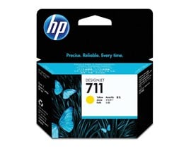 HP 711 (Volume: 29ml) Yellow Ink Cartridge