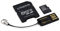 Kingston (64GB) Multi-Kit/Mobility Kit with a Single Card with SD Adaptor and a USB Card Reader (Class 10)