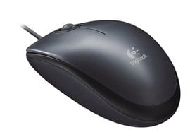 Logitech M90 Wired Optical Mouse (Black)