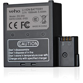 VEHO VCC-A034-SB (1500mAh) Handsfree Camera Spare Battery for VEHO MUVI K-Series