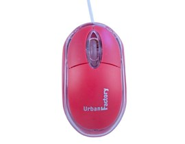 Urban Factory Cristal Mouse Optical USB Computer Mouse (Red)