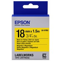 Epson LK-5YB2 18mm (1.5m) Black/Yellow Magnetic Label Cartridge