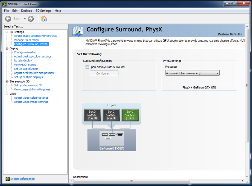 Configuring multiple monitors nvidia surround single gpu ccl computers - Internet multi server control panel ...