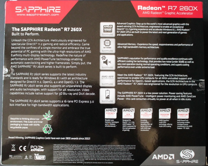 Sapphire R7 260X Graphics Card Review | CCL Computers