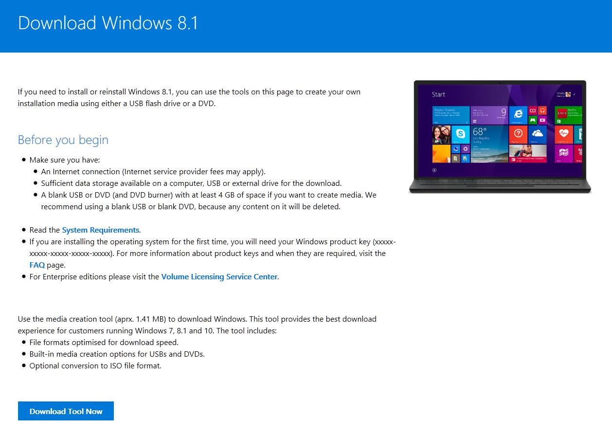 windows 8.1 setup tool product key