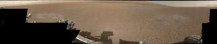 First colour panoramic picture from NASA's Curiosity