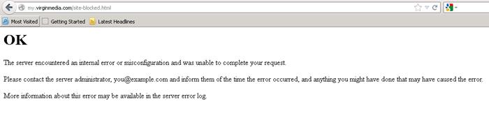 Broken Block Page at Virgin Media