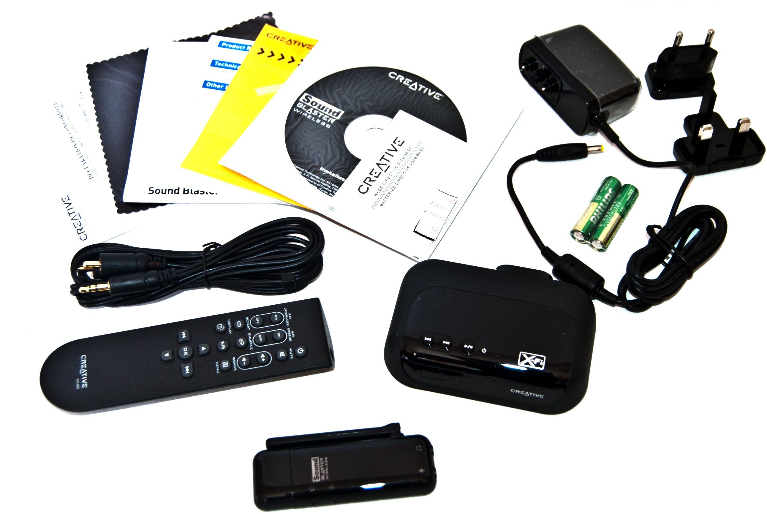 Creative Sound Blaster Wireless Music System - Package Contents
