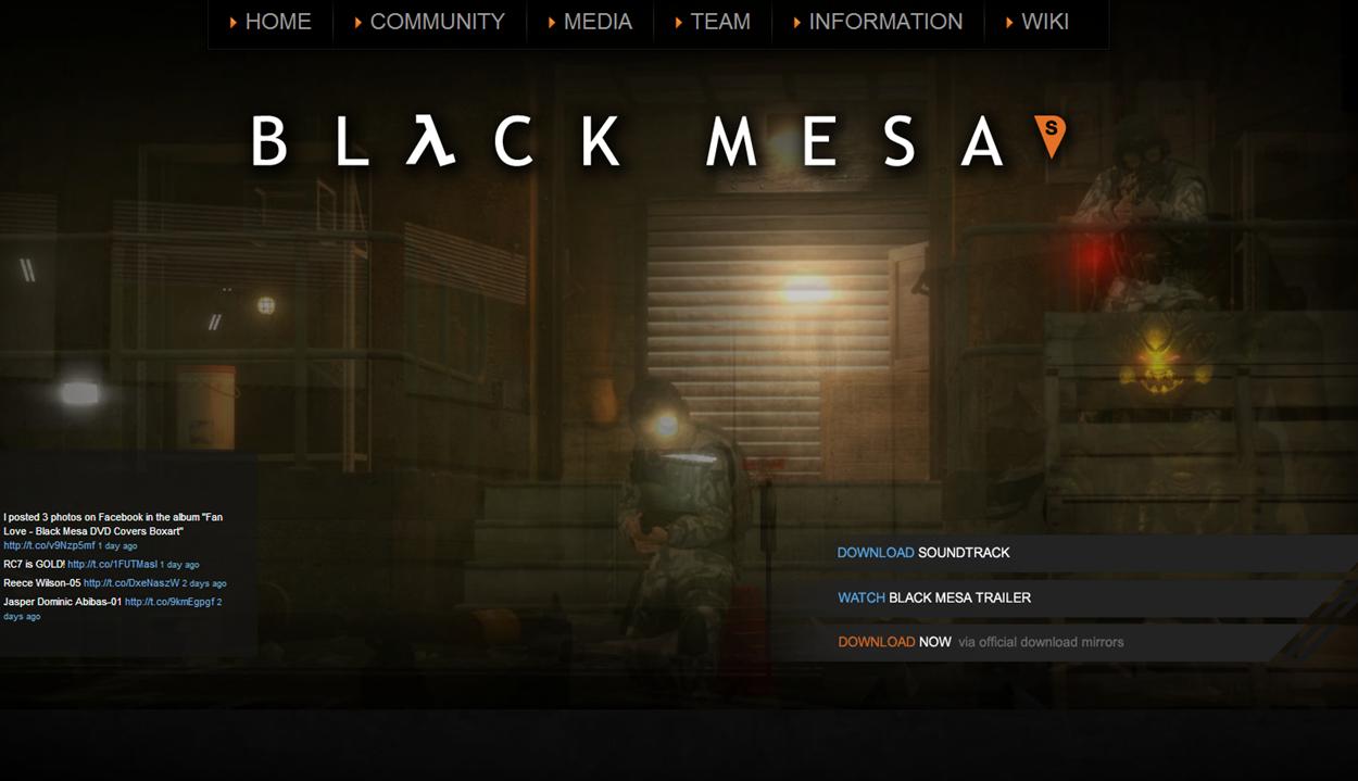 Black Mesa Source Website - Blackmesasource.com