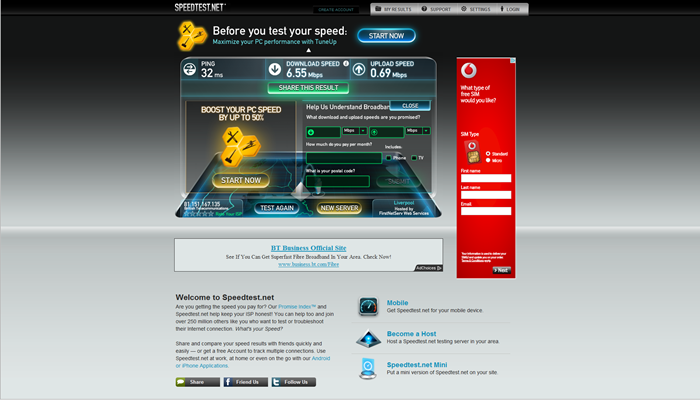 Asus DSL-N55U - Asus Speedtest.net - Review
