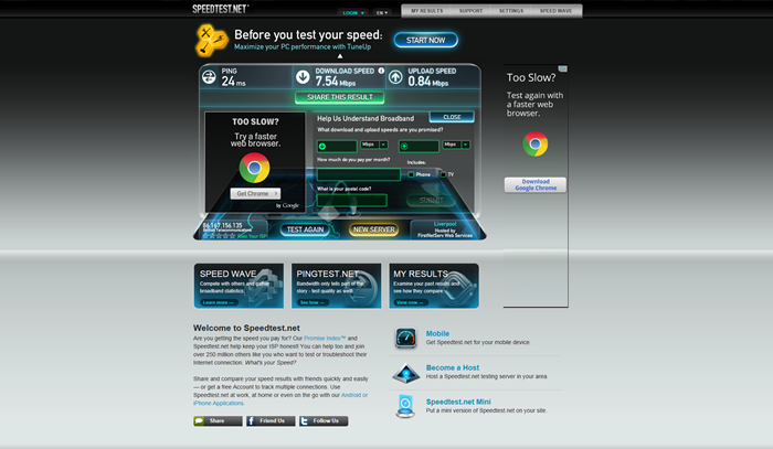 Asus DSL-N55U - BT Homehub Speedtest.net - Review