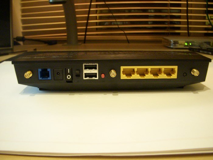 Asus DSL-N55U - Rear Ports - Review