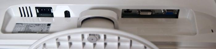 BenQ RL2240H - I/O Ports - Review