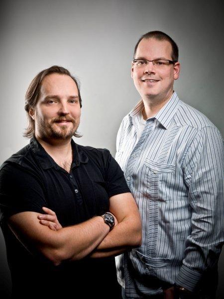 Dr. Greg Zeschuk and Dr. Ray Muzyka
