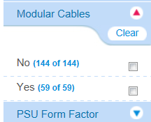 PSU Filter Options Modular / Non-Modular