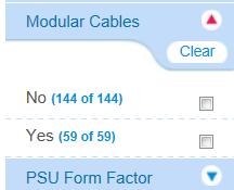 PSU Filter Options Modular / Non-Modular