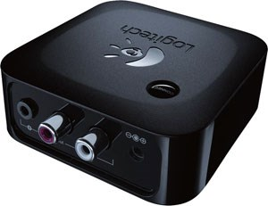 Rear of the Logitech Bluetooth Adapter with 3.5mm and RCA Jacks
