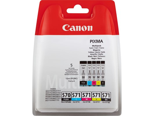 Canon PGI-570BK / CLI-571 BK/C/M/Y Ink Cartridge Multipack