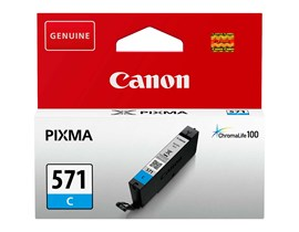 Canon CLI-571 Ink Cartridge - Cyan, 7ml (Yield 173 Photos)
