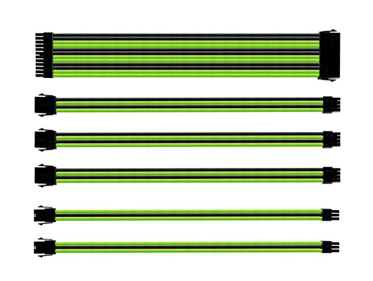 Cooler Master Sleeved Extension Cable Kit (Green and Black)