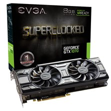 EVGA GeForce GTX 1070 SC ACX 3.0 8GB Graphics Card