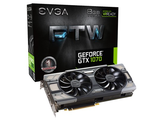 EVGA GeForce GTX 1070 FTW GAMING ACX 3.0 8GB