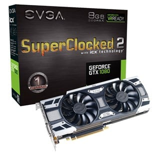 EVGA GeForce GTX 1080 SC2 8GB Graphics Card