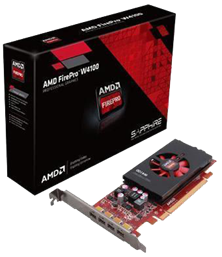 AMD FirePro W4100 2GB Pro Graphics Card