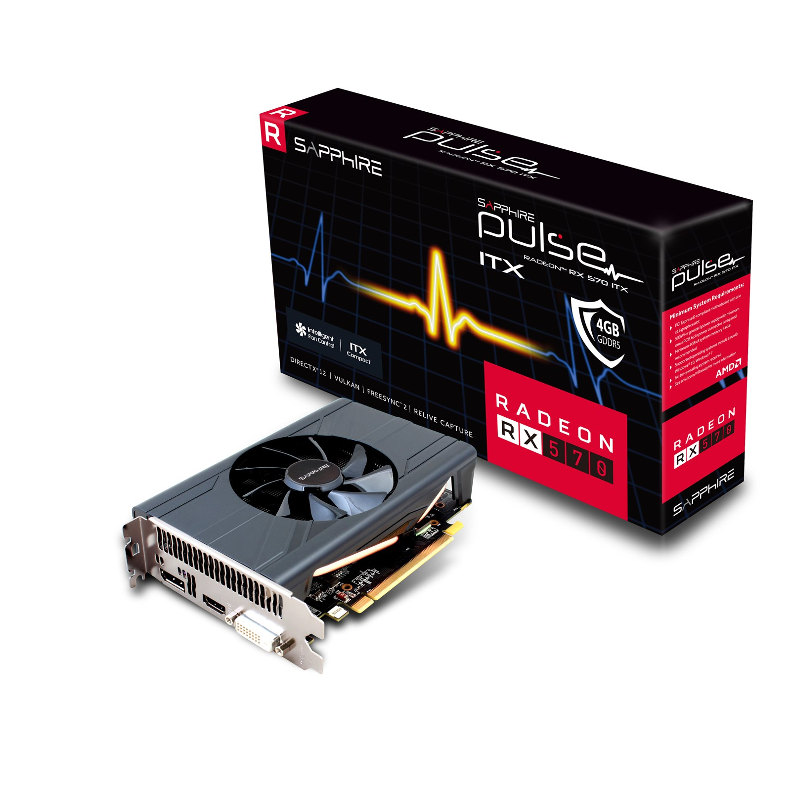 Sapphire Radeon RX 570 Pulse ITX 4GB Graphics Card - 11266-34-20G