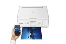 Canon PIXMA TS5051 (A4) Colour Inkjet Multifunction Printer (Print/Copy/Scan) 7.5cm Colour LCD 12.6ipm (Mono) 9ipm (Colour) with Wi-Fi (White)