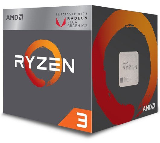 AMD Ryzen 3 2200G 3.5GHz Quad Core (Socket AM4)
