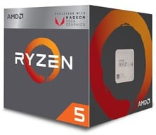 AMD Ryzen 5 2400G 3.6GHz Quad Core (Socket AM4)