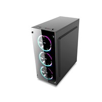 1st Player Fire Dancing V2 Mid Tower Gaming Case - Black USB 3.0