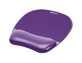 Fellowes Crystal Mouse Pad & Wrist Rest - Purple