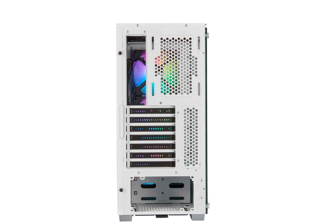Corsair iCUE 220T RGB Airflow Mid Tower Gaming Case - White USB 3 0