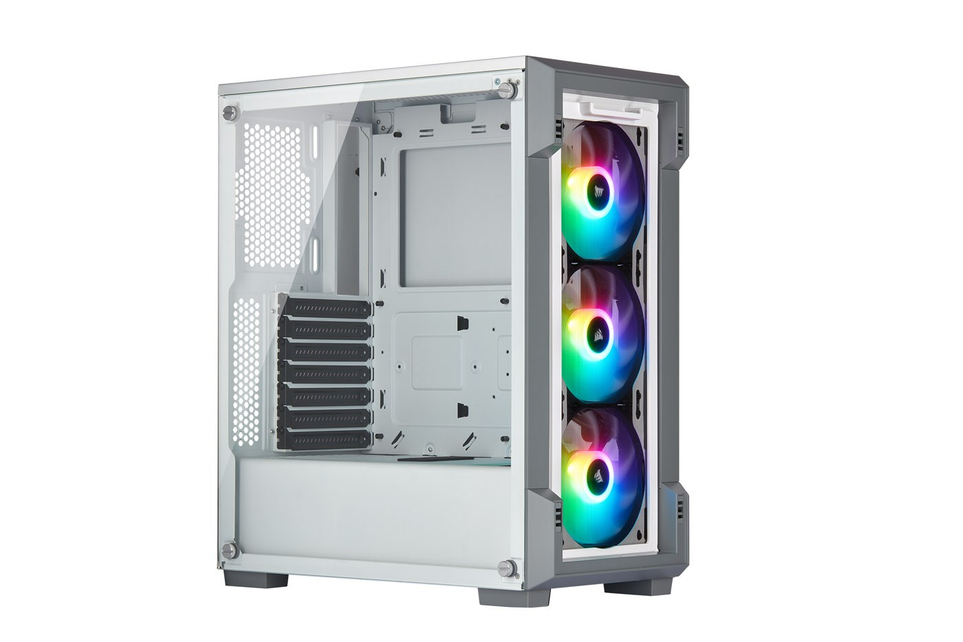 Corsair iCUE 220T RGB Airflow Gaming Case - White - CC-9011174-WW