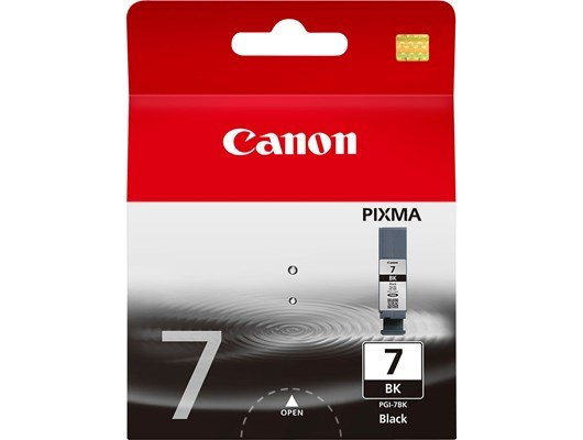 Canon PGI-7BK Ink Cartridge - Black, 25ml (Yield 565 Pages)