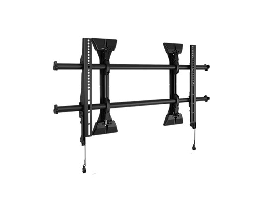 "Large Fusion Micro-Adjustable Fixed Wall Display Mount 37"" Black"